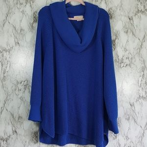 MICHAEL Michael Kors Blue Cowl Neck Sweater 3X S53